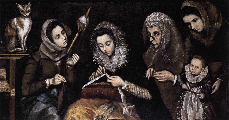 El Grekova porodica sa mačkom